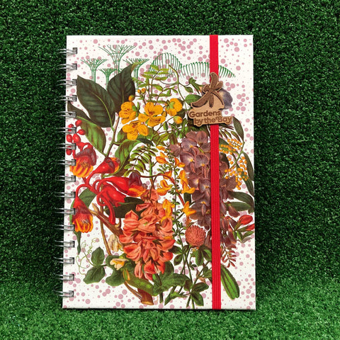 Gardens by the Bay - Merchandise Collection - Stationeries - Sustainable Wood Stationeries - Gardens by the Bay Scenery Botanical A5 Notebook