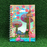 Gardens by the Bay - Merchandise Collection - Stationeries - Sustainable Wood Stationeries - Gardens with Sakura A5 Notebook