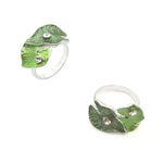 Gardens by the Bay - Fashion Costume Jewellery - Green Heart Shaped Leaf Ring