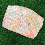 Gardens by the Bay - Merchandise Collection - Ready to Wear - MRTWBP GARDENS BY THE BAY BRAND PATTERN SMALL COSMETIC POUCH (PEACH)