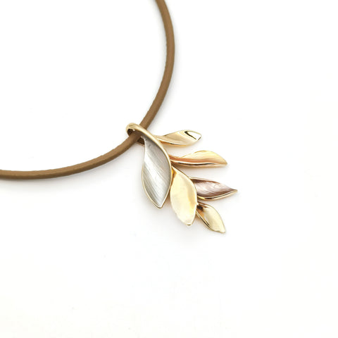 Gardens by the Bay - Fashion Costume Jewellery - Olive Leaf Necklace