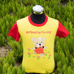 Gardens by the Bay - Wise Wee & Precious Peggy Collection - PRECIOUS PEGGY KIDS T-SHIRT WITH ROSES (YELLOW / RED)
