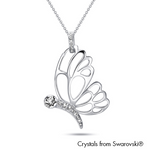 Gardens by the Bay - Costume Jewellery Collection - Papillion Necklace made with SWAROVSKI® Crystals
