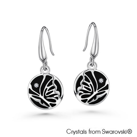 Gardens by the Bay - Costume Jewellery Collection - Parvana Earrings made with SWAROVSKI® Crystals - Jet Black color