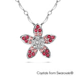 Gardens by the Bay - Costume Jewellery Collection - Periwinkle Necklace made with SWAROVSKI® Crystals - Rose color