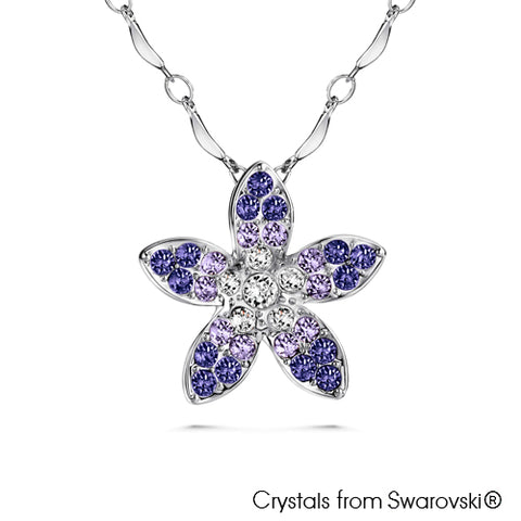 Gardens by the Bay - Costume Jewellery Collection - Periwinkle Necklace made with SWAROVSKI® Crystals - Tanzanite color