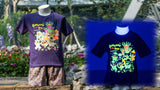 Gardens by the Bay - Gardens by the Bay Bear Collection - RESIDENT BEARS WITH SUPERTREES GLOW KID'S T-SHIRT (PURPLE)