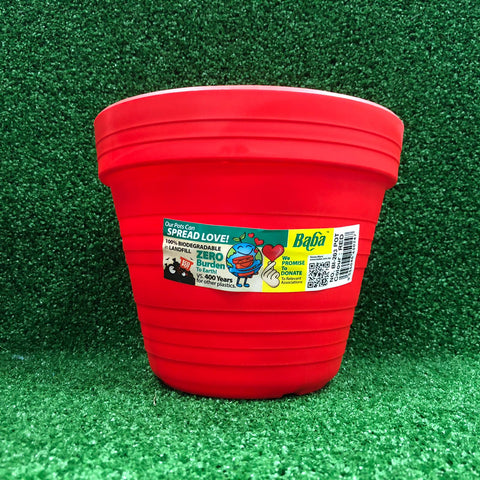 Gardens by the Bay – Plant Collection - Gardening Supplies - Red Plastic Pot BI-203