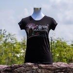Gardens by the Bay - Ladies' Rhinestone T-Shirt Collection - SUPERTREESMARINEVIEWWITHCITYSKYLINELADIES_T-SHIRT_BLACK