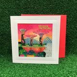 Gardens by the Bay - Merchandise Collection - Stationeries - Greeting Card - Sunset of Gardens Scenery Embroidered Greeting Card