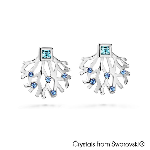 Gardens by the Bay - Costume Jewellery Collection - Supertree Earrings made with SWAROVSKI® Crystals - Aquamarine color