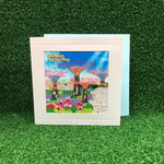 Gardens by the Bay - Merchandise Collection - Stationeries - Greeting Card - Supertree Grove Embroidered Greeting Card