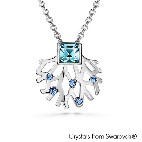 Gardens by the Bay - Costume Jewellery Collection - Supertree Necklace made with SWAROVSKI® Crystals - Aquamarine color