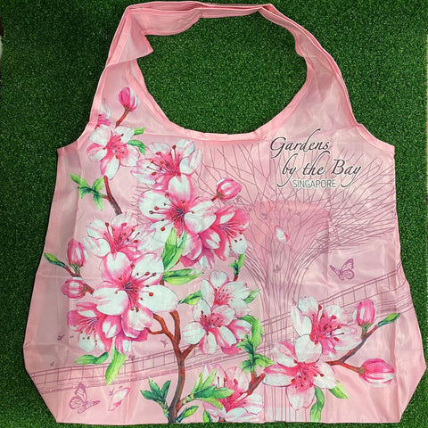 Gardens by the Bay - Merchandise Collection - Bags and Pouches - Foldable Bag Supertree Skyway with Sakura (Pink)