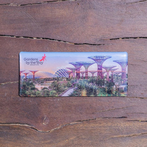 Gardens by the Bay - Gardens by the Bay Magnet Collection - SUNSET SCENERY EPOXY MAGNET (LONG)