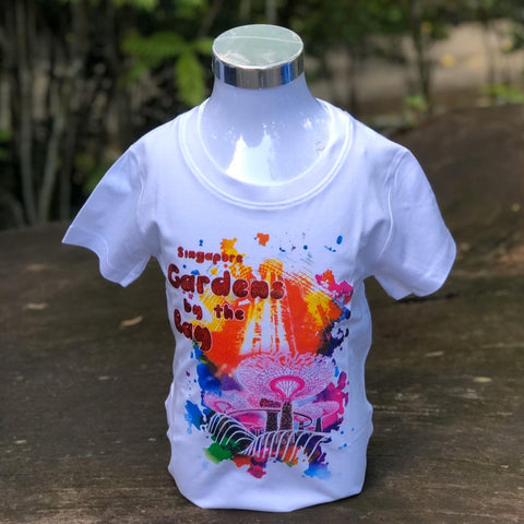 Merchandise Collection - Ready to Wear - Family T-Shirt - Scenery Watercolor Kids T-Shirt (White)