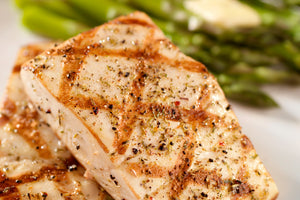 Grilled Halibut with Honey and Lemon