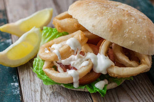 Beer Battered Calamari Sandwich