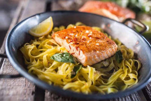 Budget Bites: Grilled Salmon Fettuccini