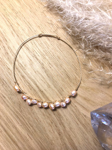 Jonc Perles #2 - Gold Filled Or