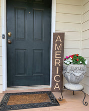 Load image into Gallery viewer, Wooden Welcome Sign - America