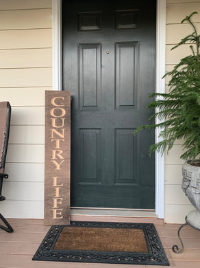 Wooden Welcome Sign - Country Life
