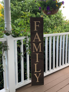 Wooden Welcome Sign - Family