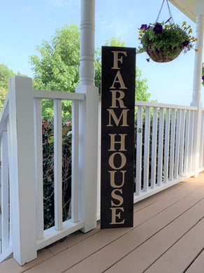 Wooden Welcome Sign - Farm House