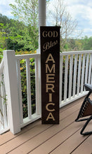 Load image into Gallery viewer, Wooden Welcome Sign - God Bless America