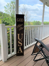 Load image into Gallery viewer, Wooden Welcome Sign - God Bless The USA