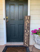 Load image into Gallery viewer, Wooden Welcome Sign - Halloween