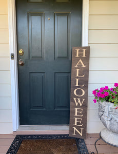 Wooden Welcome Sign - Halloween