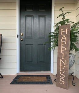 Wooden Welcome Sign - Happiness