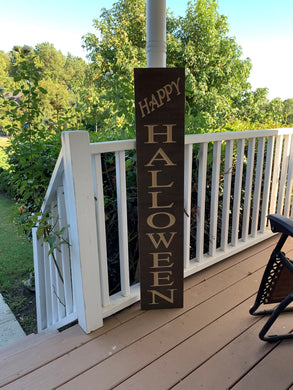 Wooden Welcome Sign - Happy Halloween