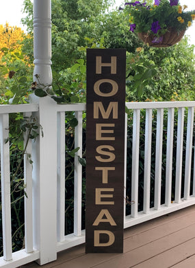 Wooden Welcome Sign - Homestead