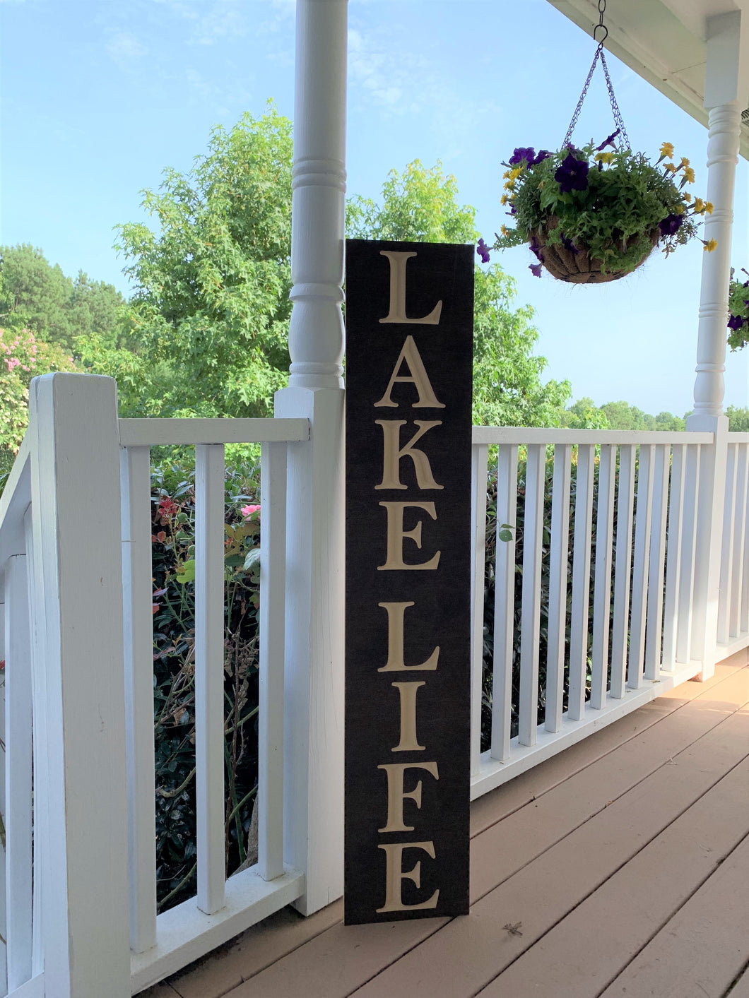 Wooden Welcome Sign - Lake Life