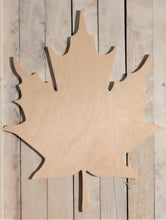 Load image into Gallery viewer, Unfinished, Wood, Maple Leaf, Large