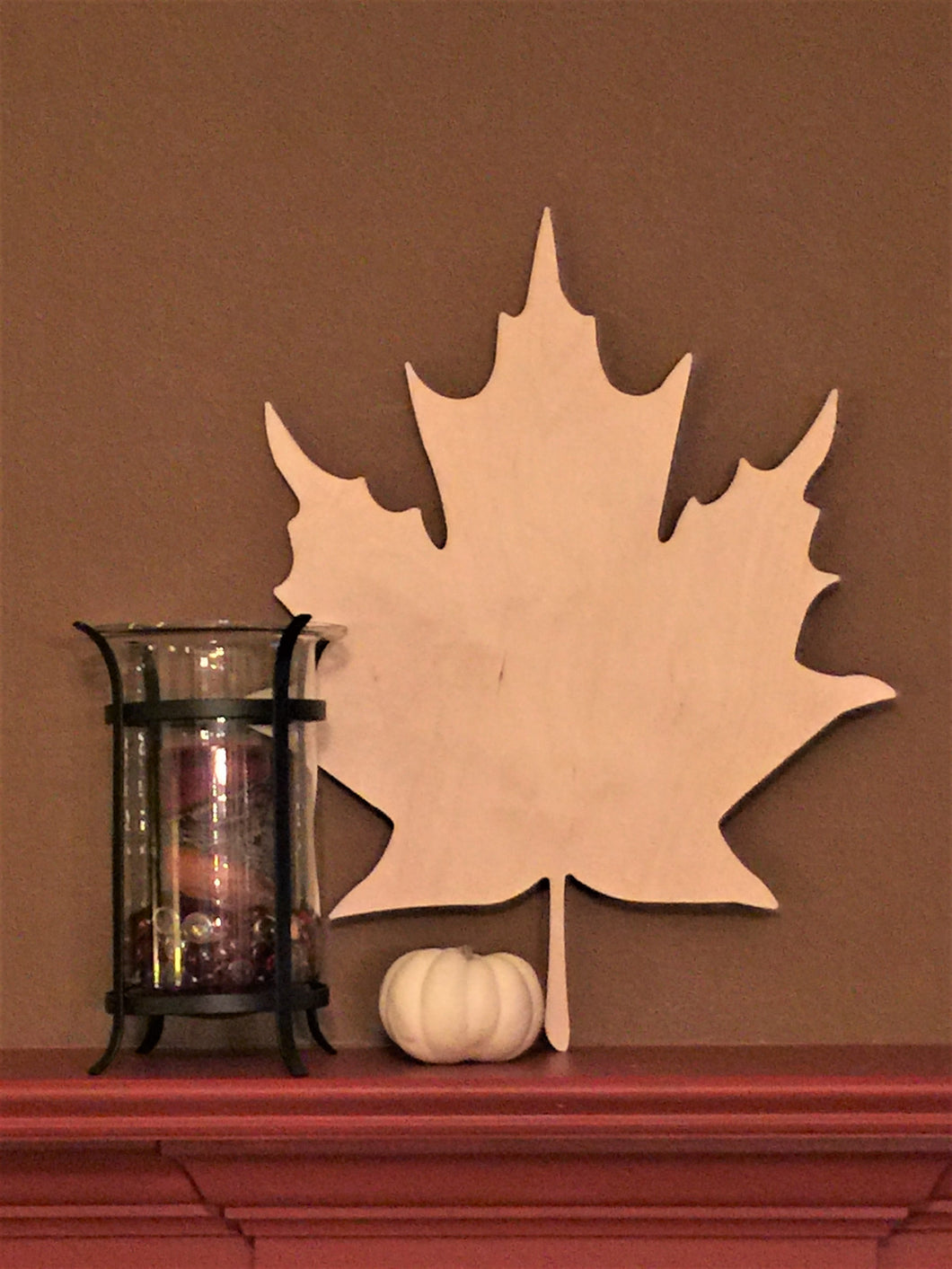 Unfinished, Wood, Maple Leaf, Large