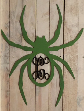 Unfinished, Wood, Large Monogram Spider