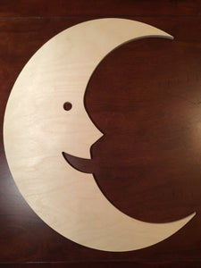 Unfinished Wood Moon, large