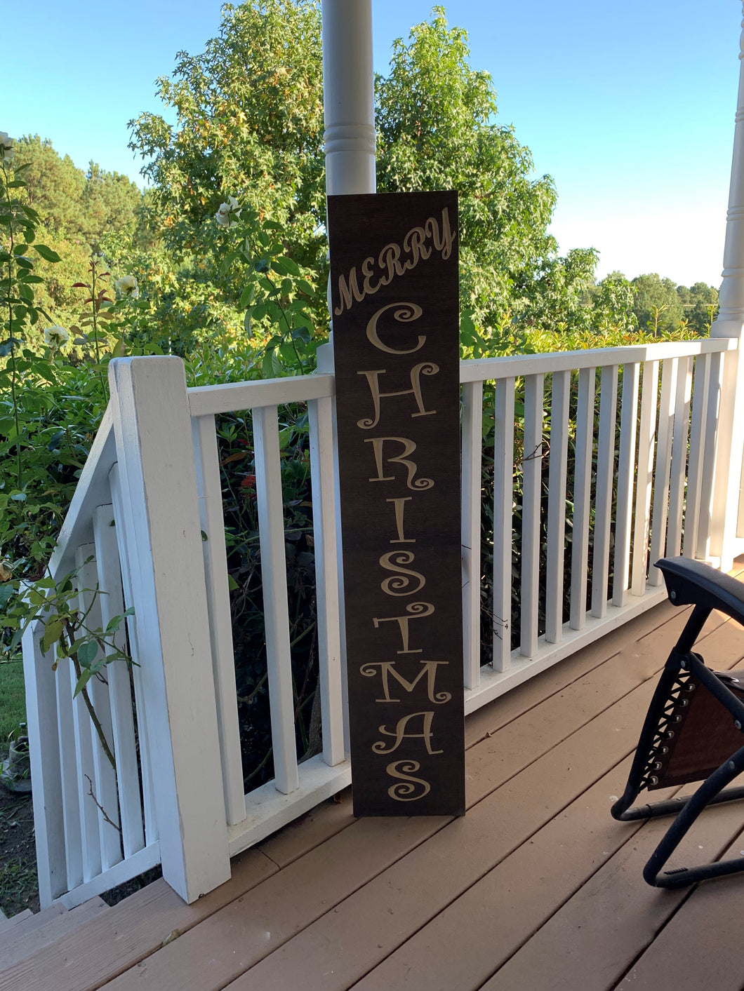 Wooden Welcome Sign - Merry Christmas