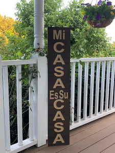 Wooden Welcome Sign - Mi Casa Es Su Casa