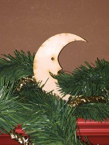 Wood Ornament Size Christmas Moon Cut Out
