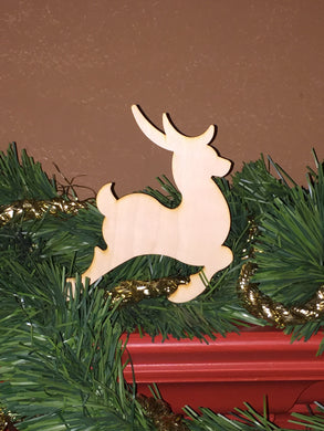 Wood Ornament Size Christmas Reindeer Cut Out