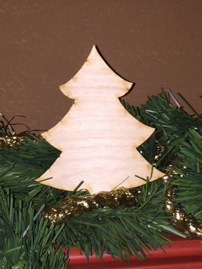 Wood Ornament Size Christmas Tree Cut Out
