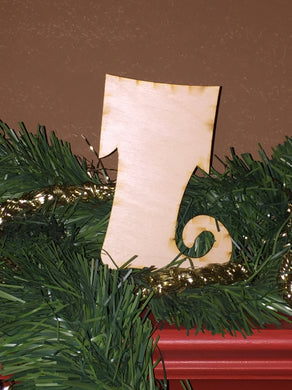 Wood Ornament Size Christmas Stocking Cut Out