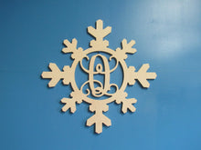 Load image into Gallery viewer, Unfinished, Monogram Design, Snowflake