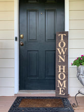 Load image into Gallery viewer, Wooden Welcome Sign - Town Home