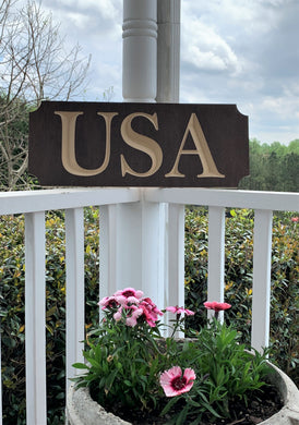 Wooden Welcome Sign- Small - USA