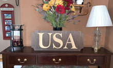Load image into Gallery viewer, Wooden Welcome Sign- Small - USA
